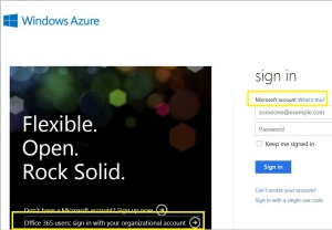 Azure Sign with MS Account or Organisational Account?