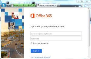 Microsoft Organisational Login