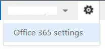 Step 1. Access Office 365 Settings