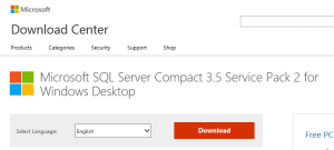 Download SQL Server Compact