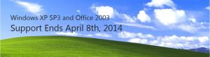 Windows XP Support Ends April 2014